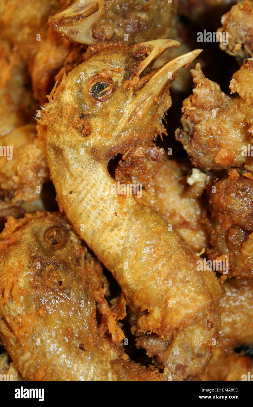 Fried Chicken Head - Stock Image
