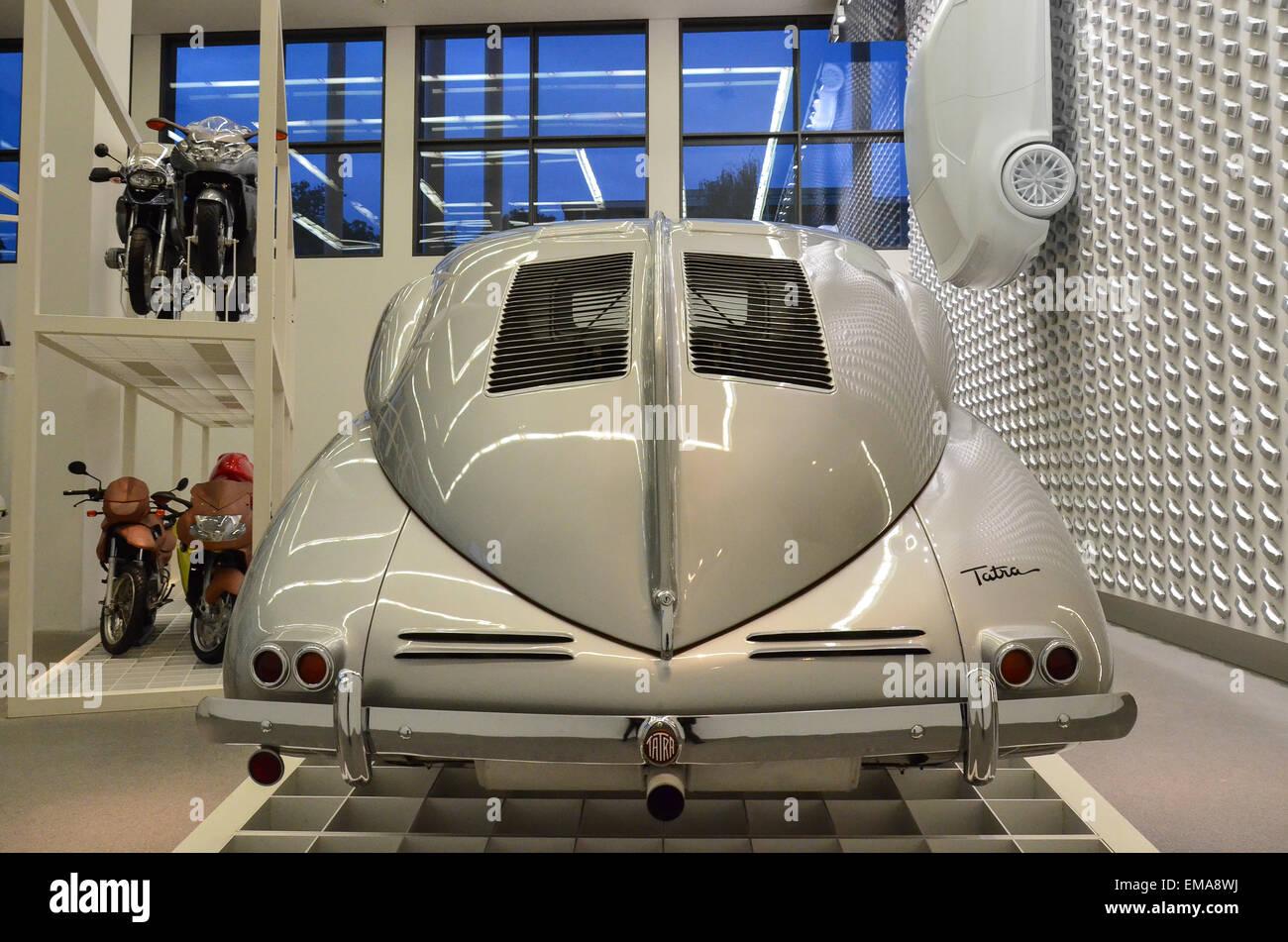 The Tatra 87 was a car built by Czechoslovak manufacturer Tatra. Still impressive with its futuristic car design! Stock Photo