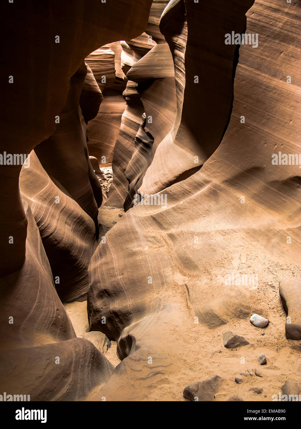 detail of famous slot canyon Antelope canyon in Page Stock Photo