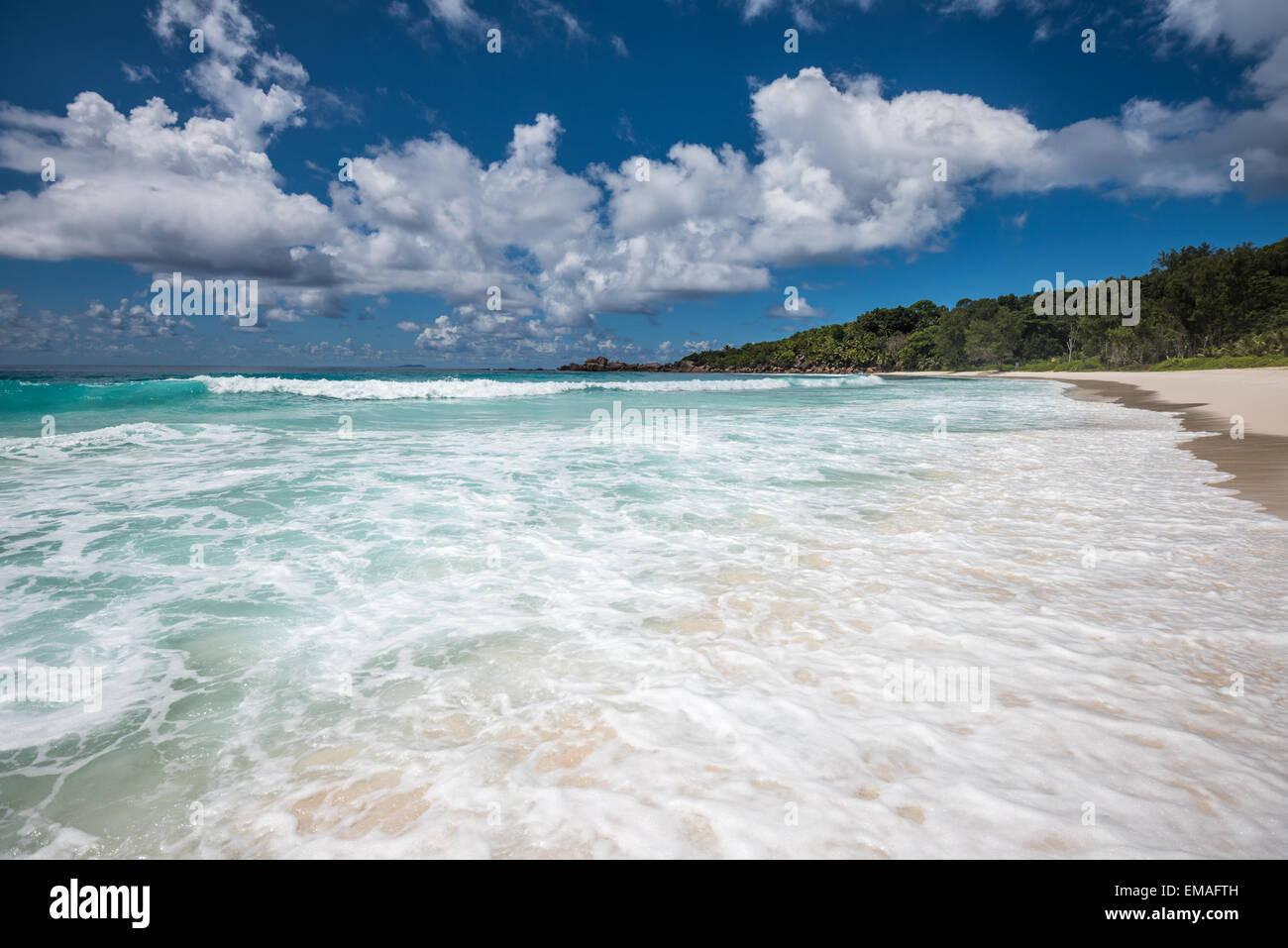 Anse Coco tropical beach, La Digue island, Seychelles - Stock Image