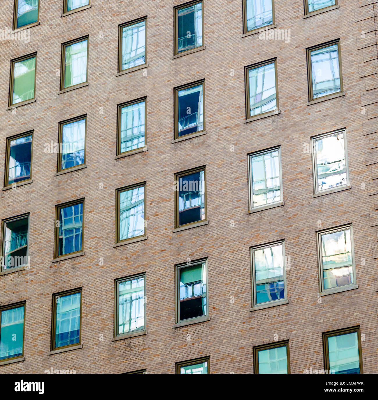 high older brick buildings in New York, Manhattan Stock Photo