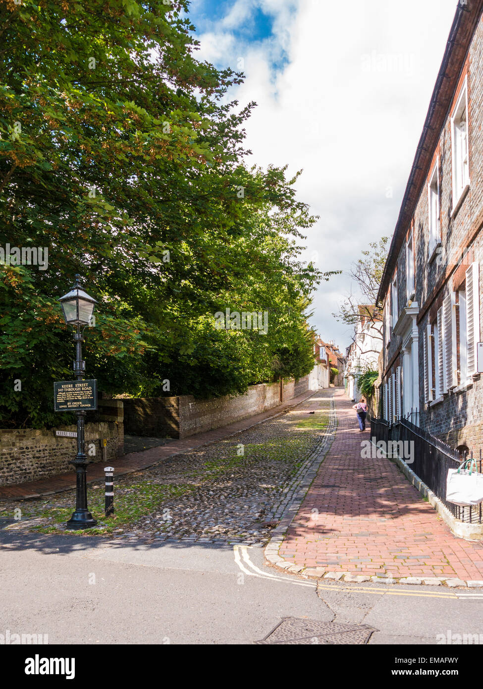 Keere Street, Lewes, East Sussex. Stock Photo