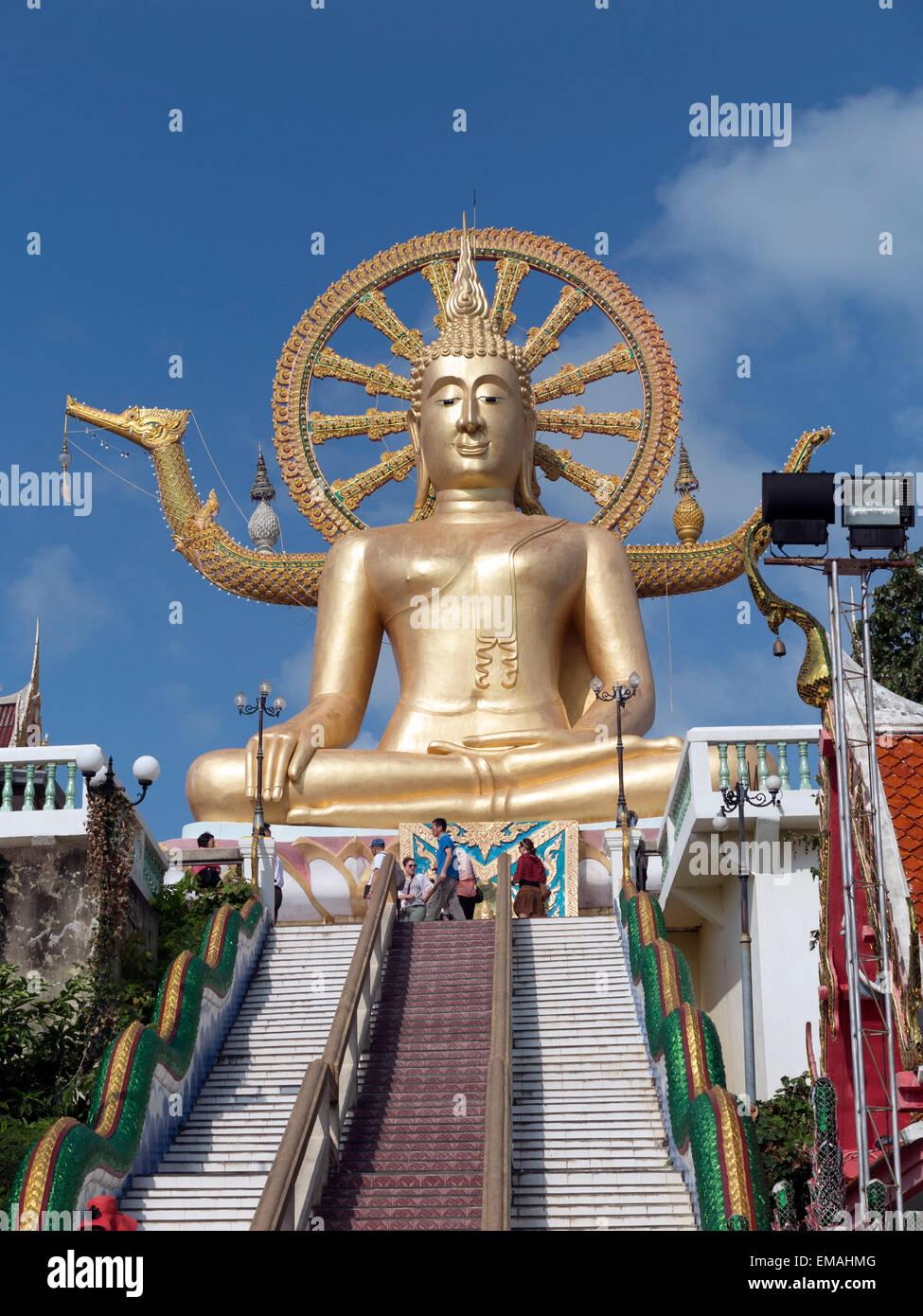 Big Buddha Temple on the Thai island of Koh Samui - Stock Image