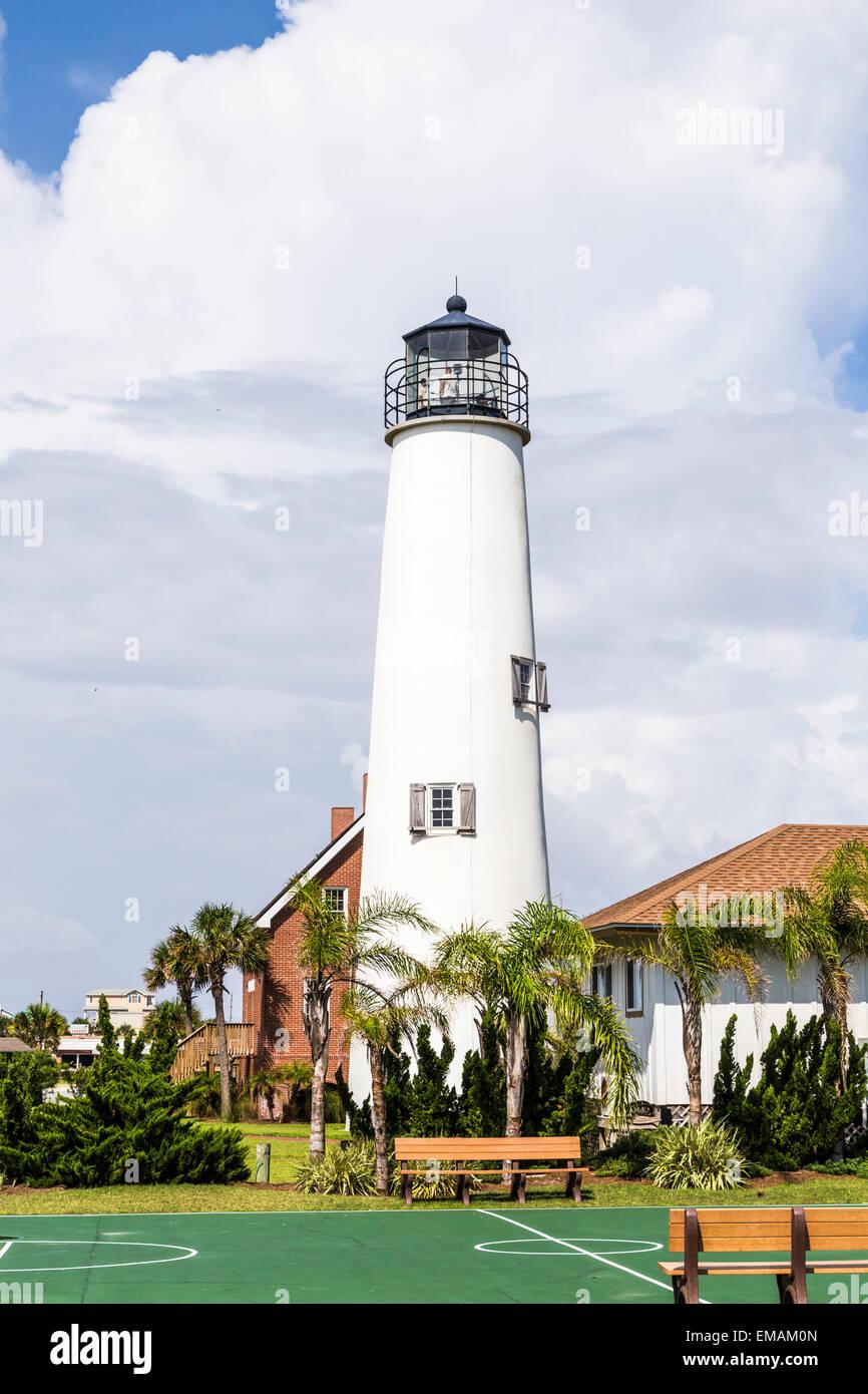 Lighthouse on St. George Island near Apalachicola, Florida, USA - Stock Image
