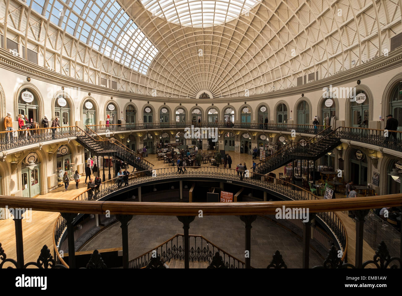 The Leeds Corn Exchange is a Victorian building in Leeds, West Yorkshire, England, which was designed by Cuthbert - Stock Image
