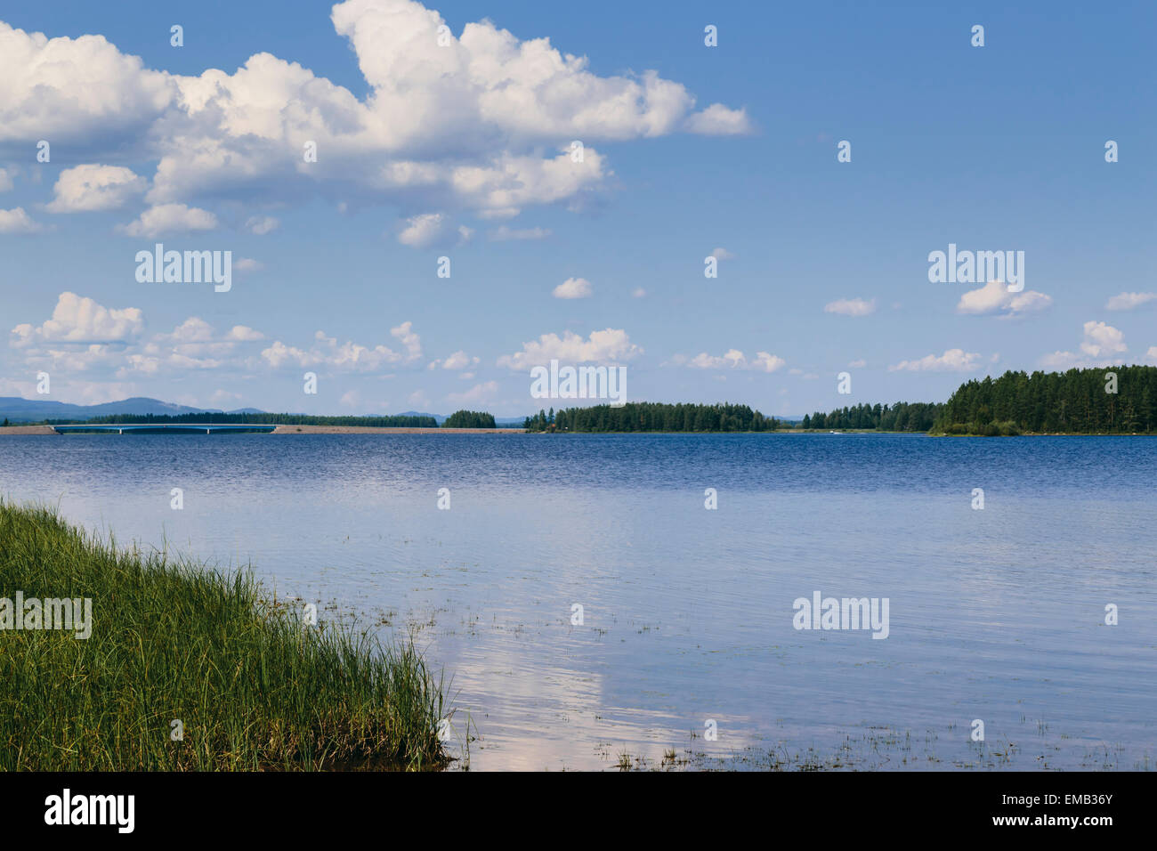 Lake Siljan in Mora, Dalarna County, Sweden Stock Photo