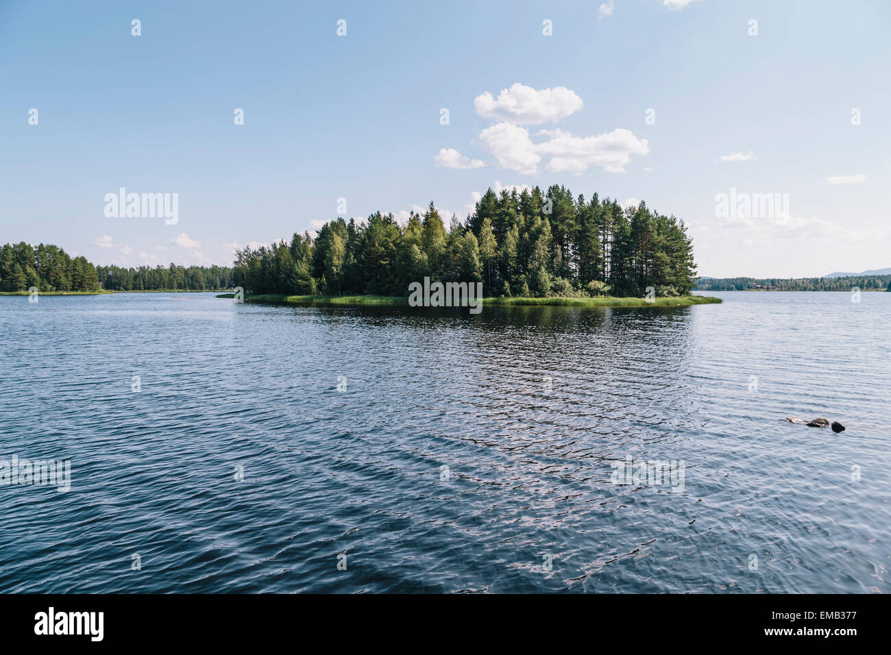Lake Siljan in Mora, Dalarna County, Sweden Stock Photo