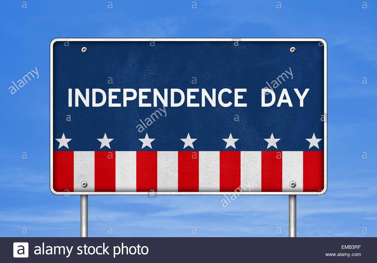 Independence Day icon logo - Stock Image