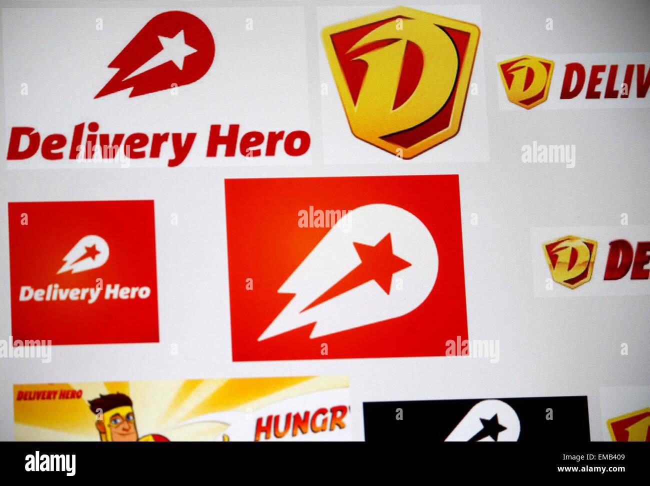 Markennamen: 'Delivery Hero', Berlin. - Stock Image