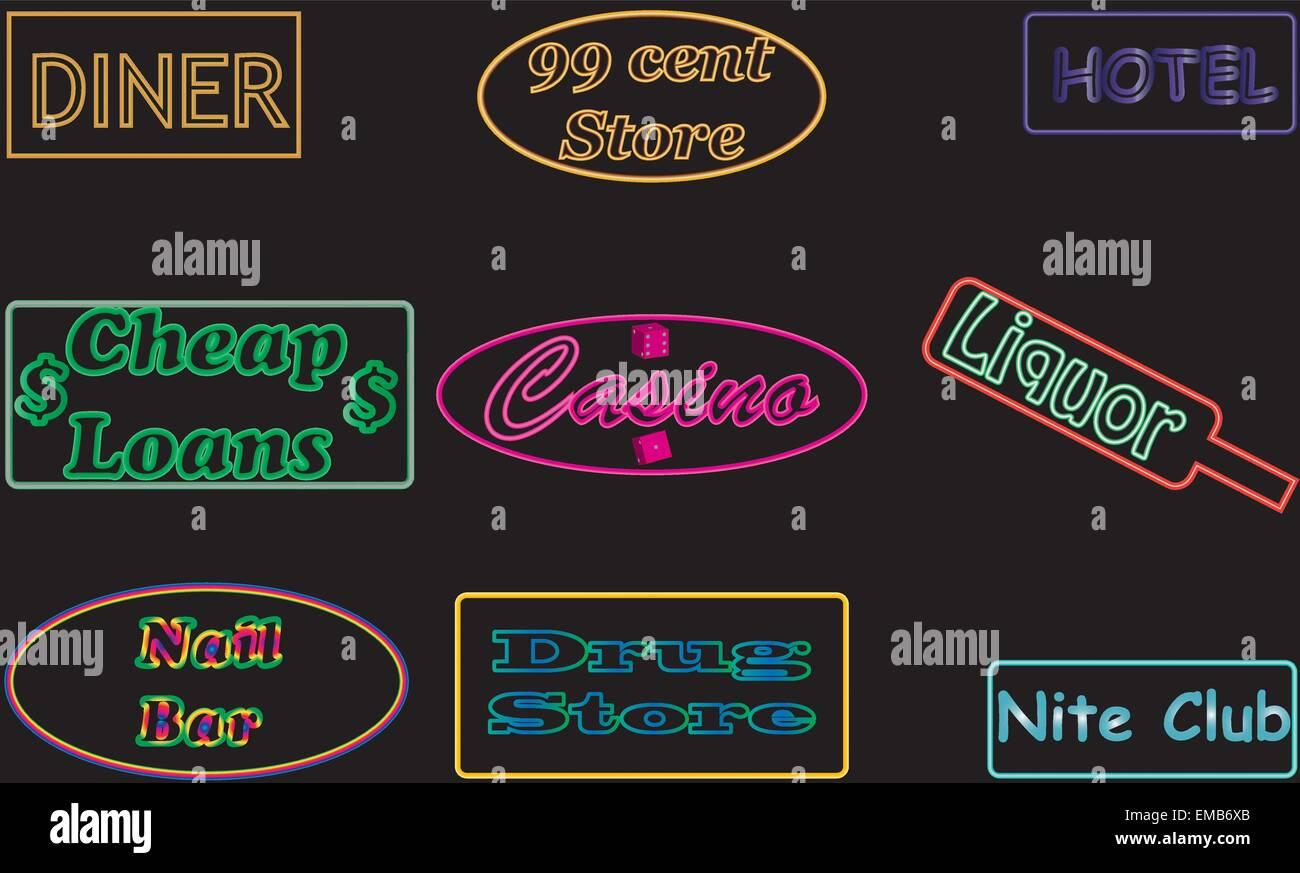 Nail Bar Advertising Sign Stock Photos & Nail Bar Advertising Sign ...