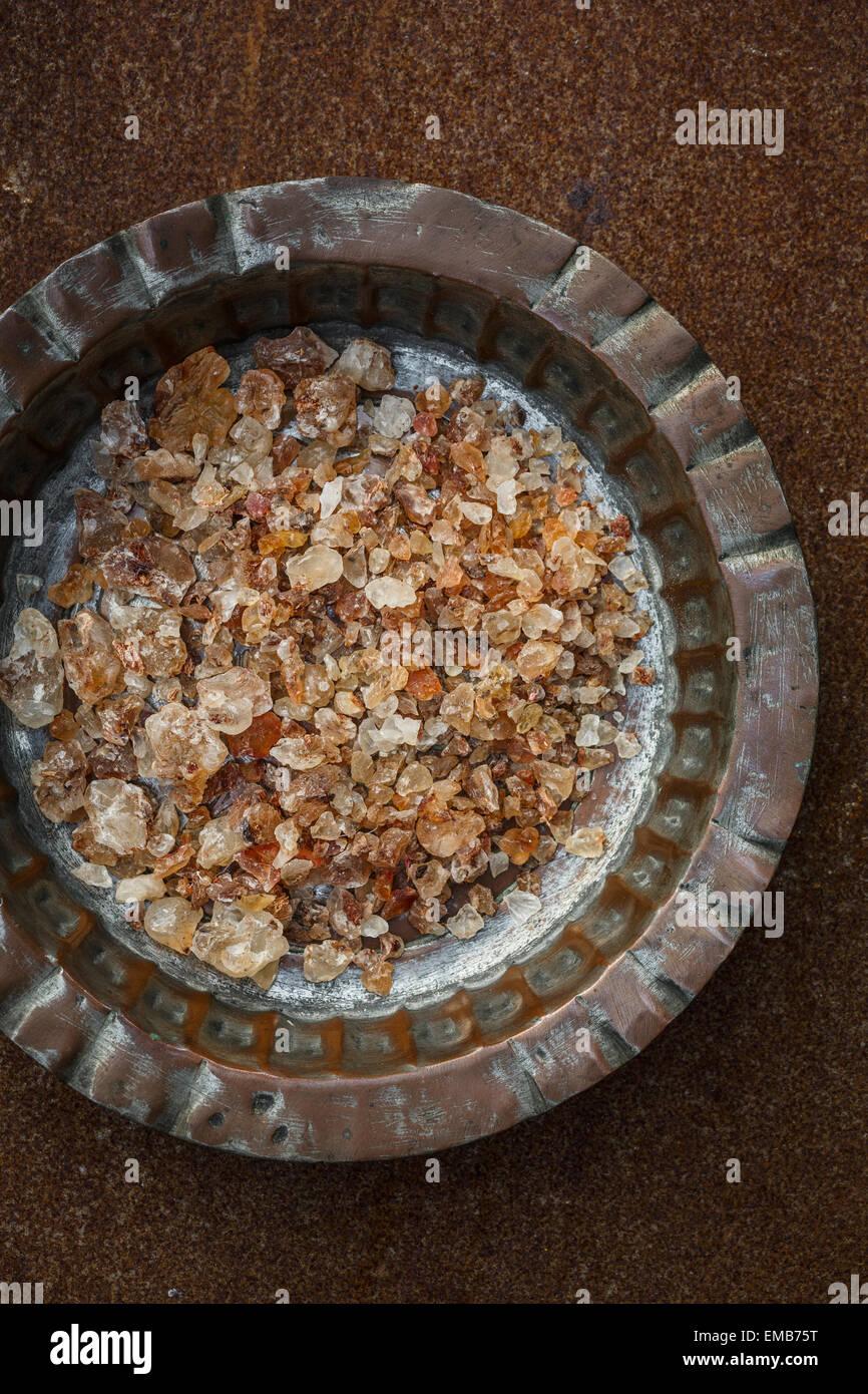 Edible Gum (Natural Gum) indian food - Stock Image