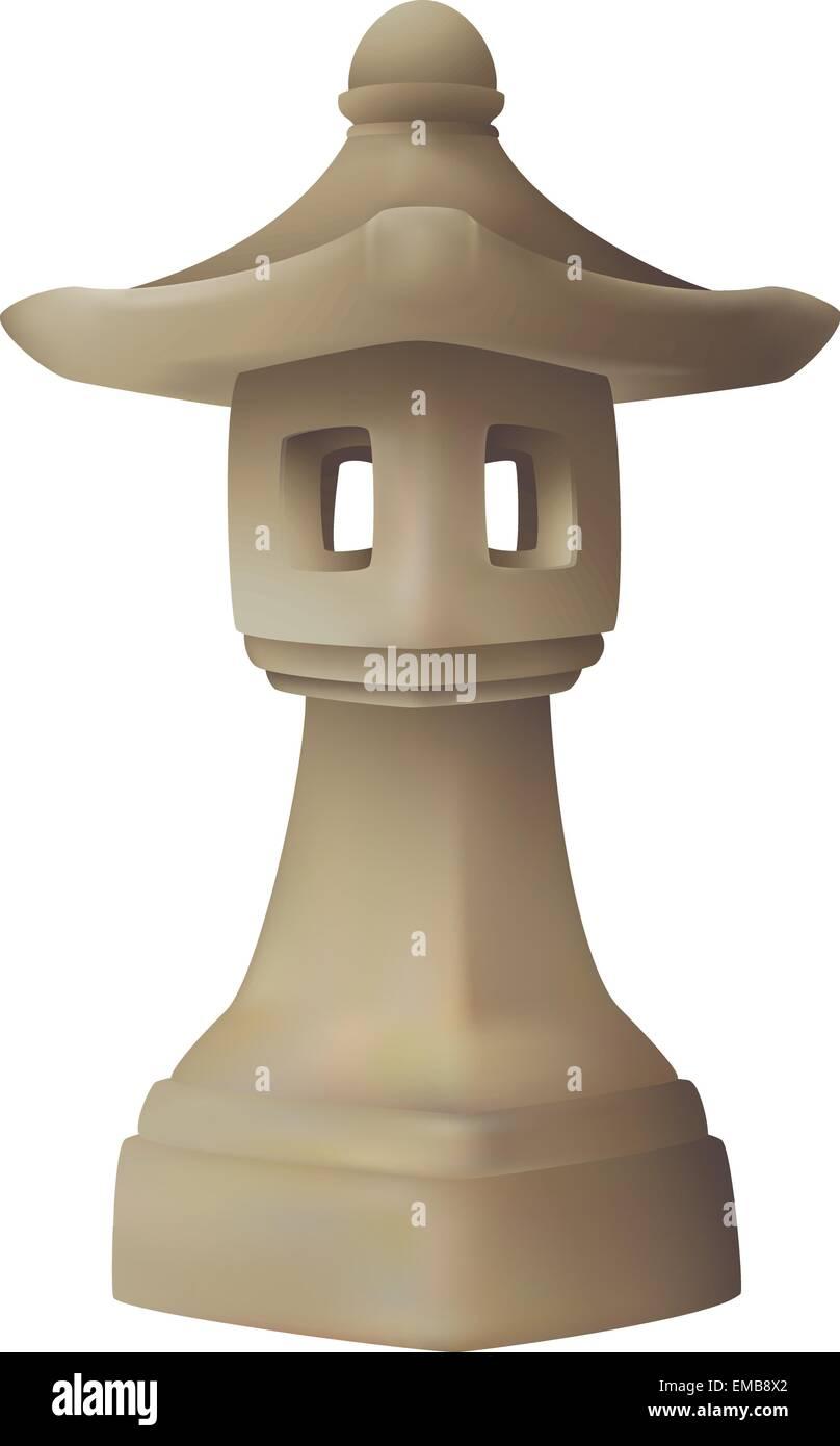 Japanese garden lantern, garden lamp - Stock Vector