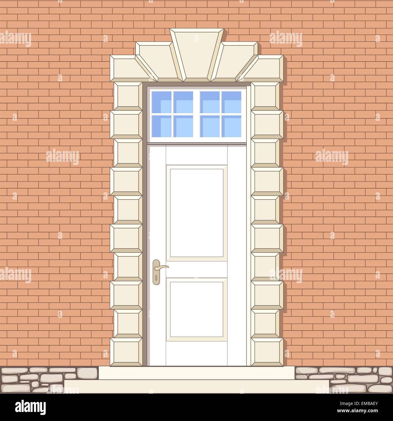 front door drawing. Vector Drawing Of Front Door