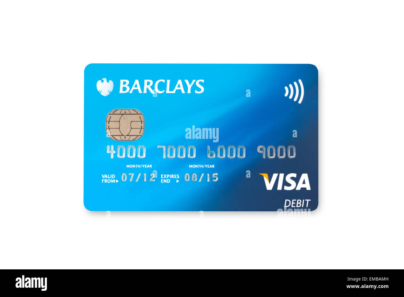 Barclays Visa bank card on white background Stock Photo: 81384481 ...