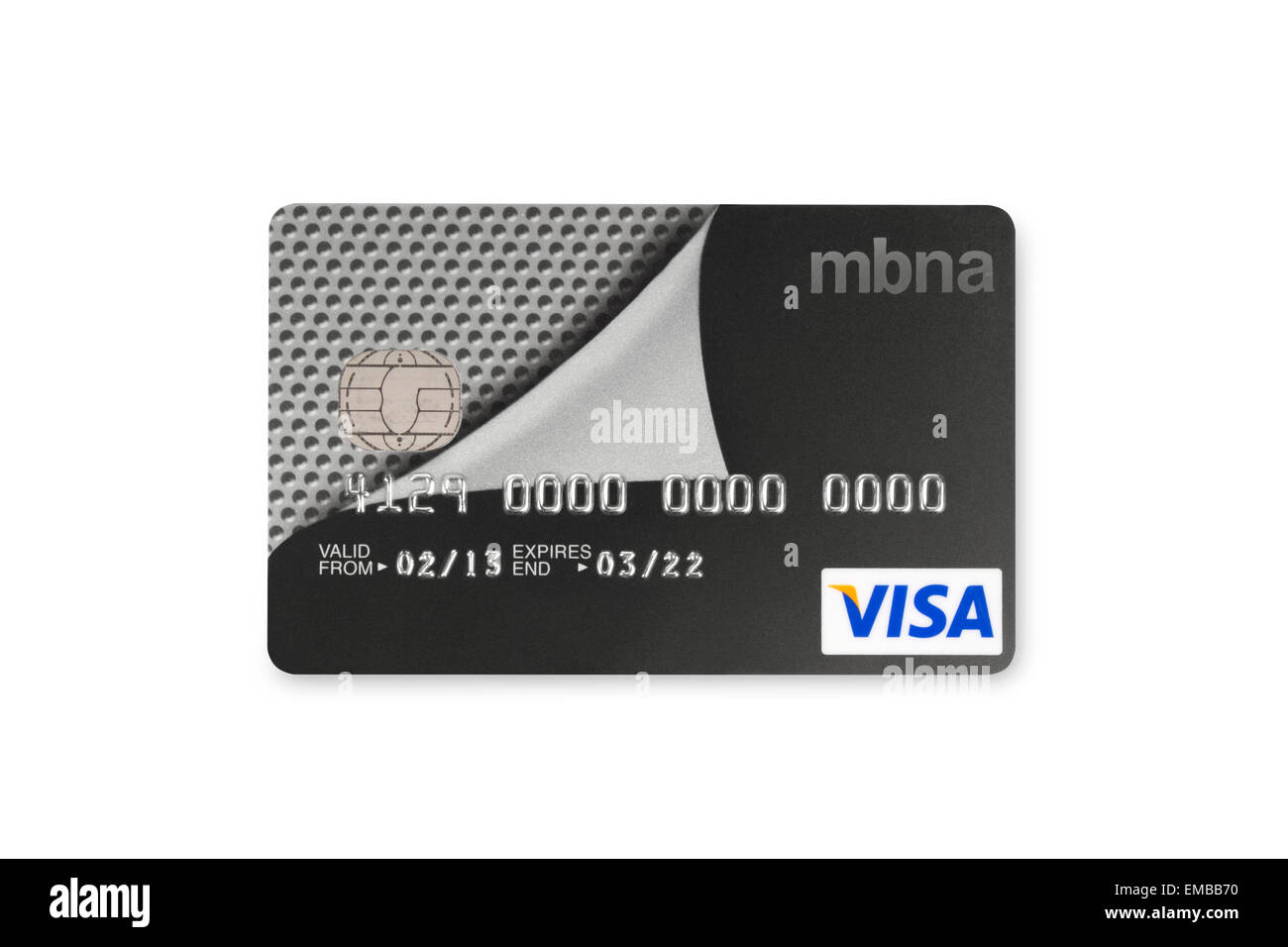 Mbna credit card stock photos mbna credit card stock images alamy mbna visa bank card on white background stock image reheart Image collections