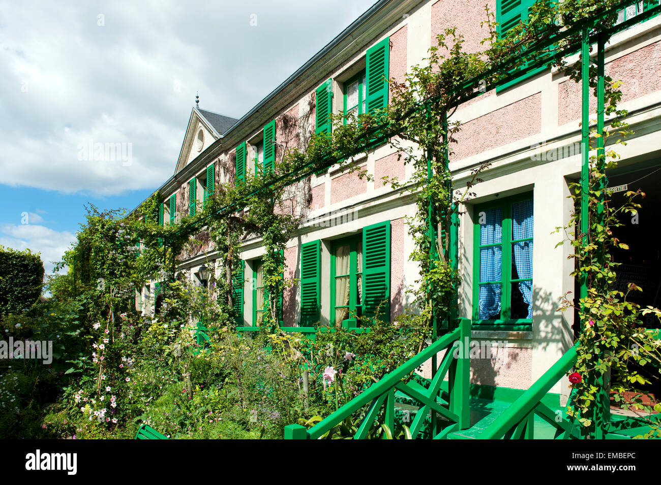 Claude Monet Haus  Giverny Departement Eure Frankreich Europa | Claude Monet Haus giverny departement eure france Stock Photo
