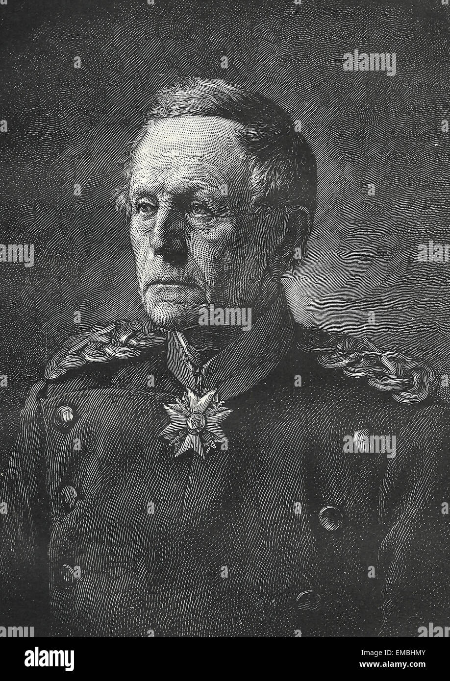 Field Marshall Helmuth von Moltke the Elder, circa 1880 - Stock Image