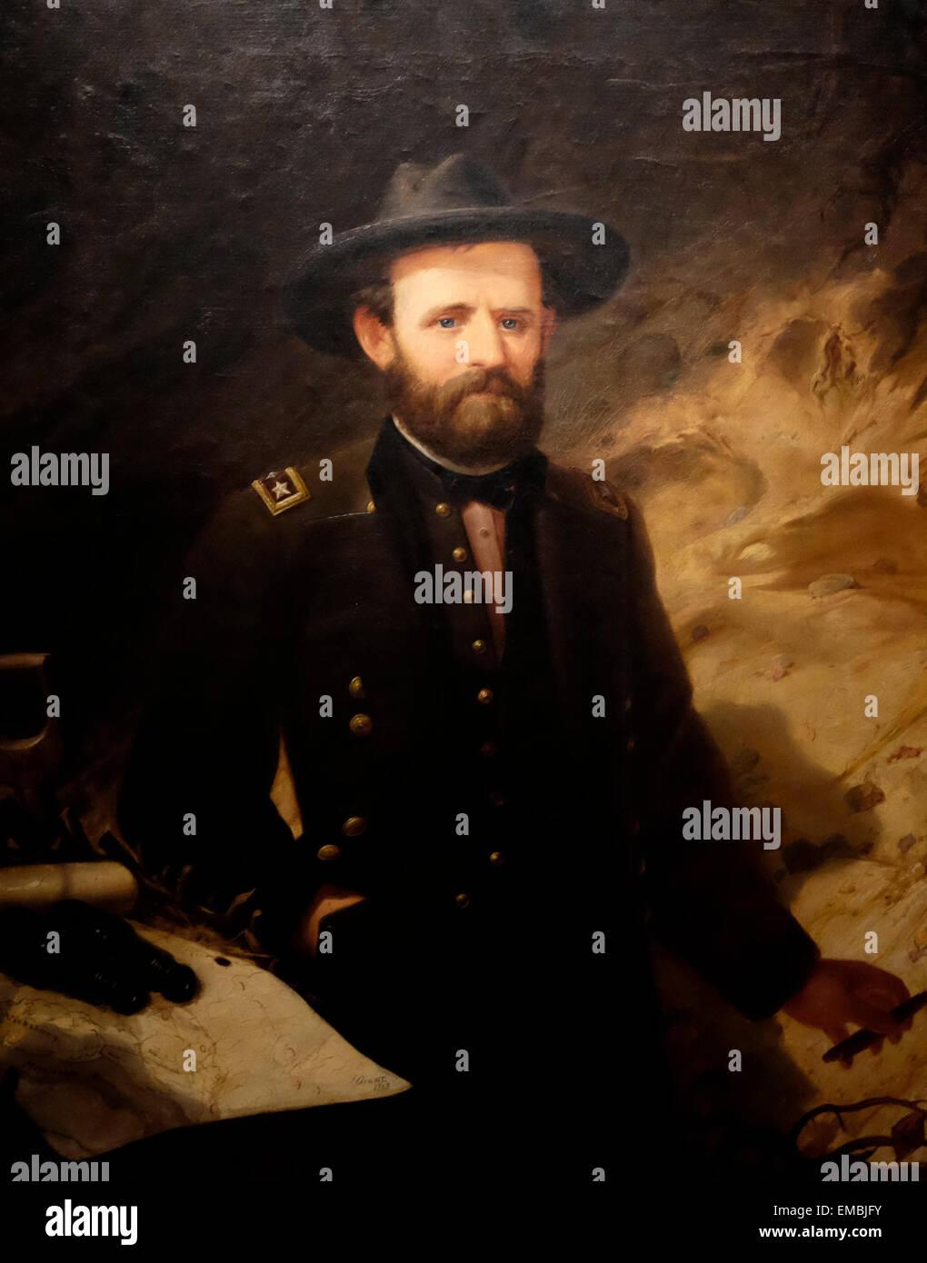 Portrait of General Ulysses S Grant - 1865 - Ole Peter Hansen Balling - Stock Image