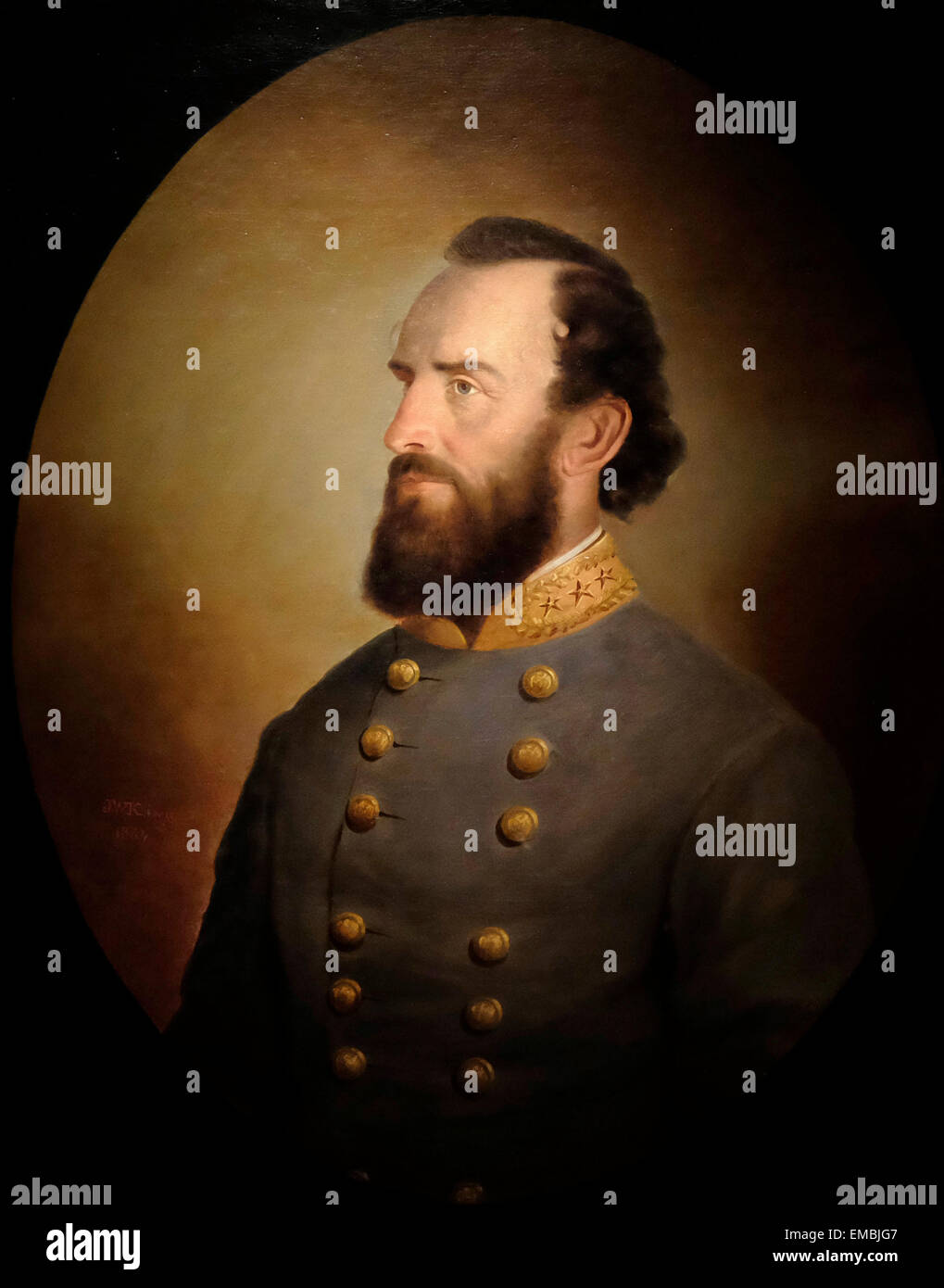 General Thomas Jonathon Stonewall Jackson - Stock Image