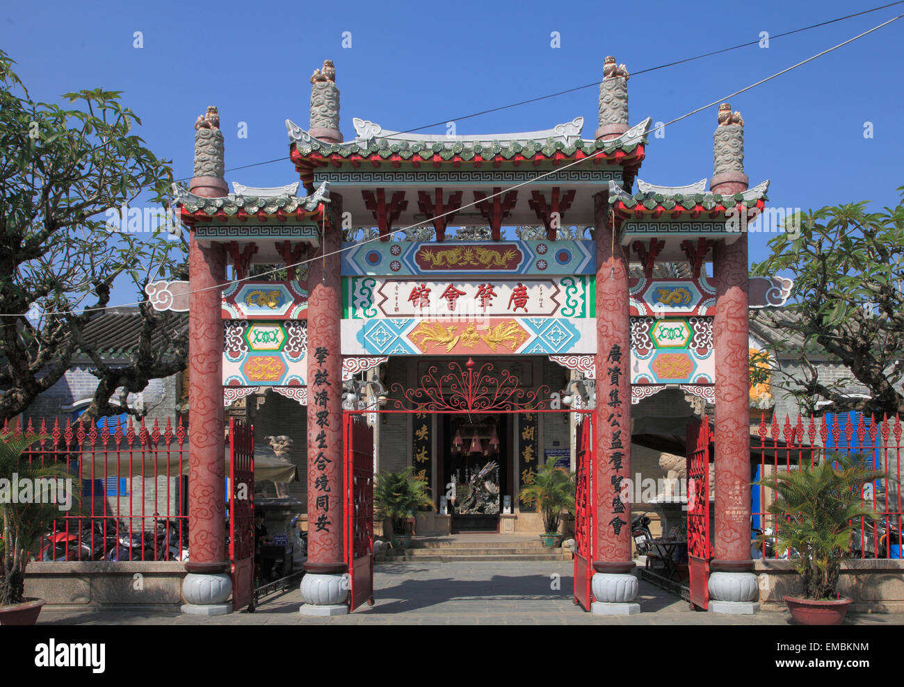 Vietnam, Hoi An, Cantonese Assembly Hall, - Stock Image