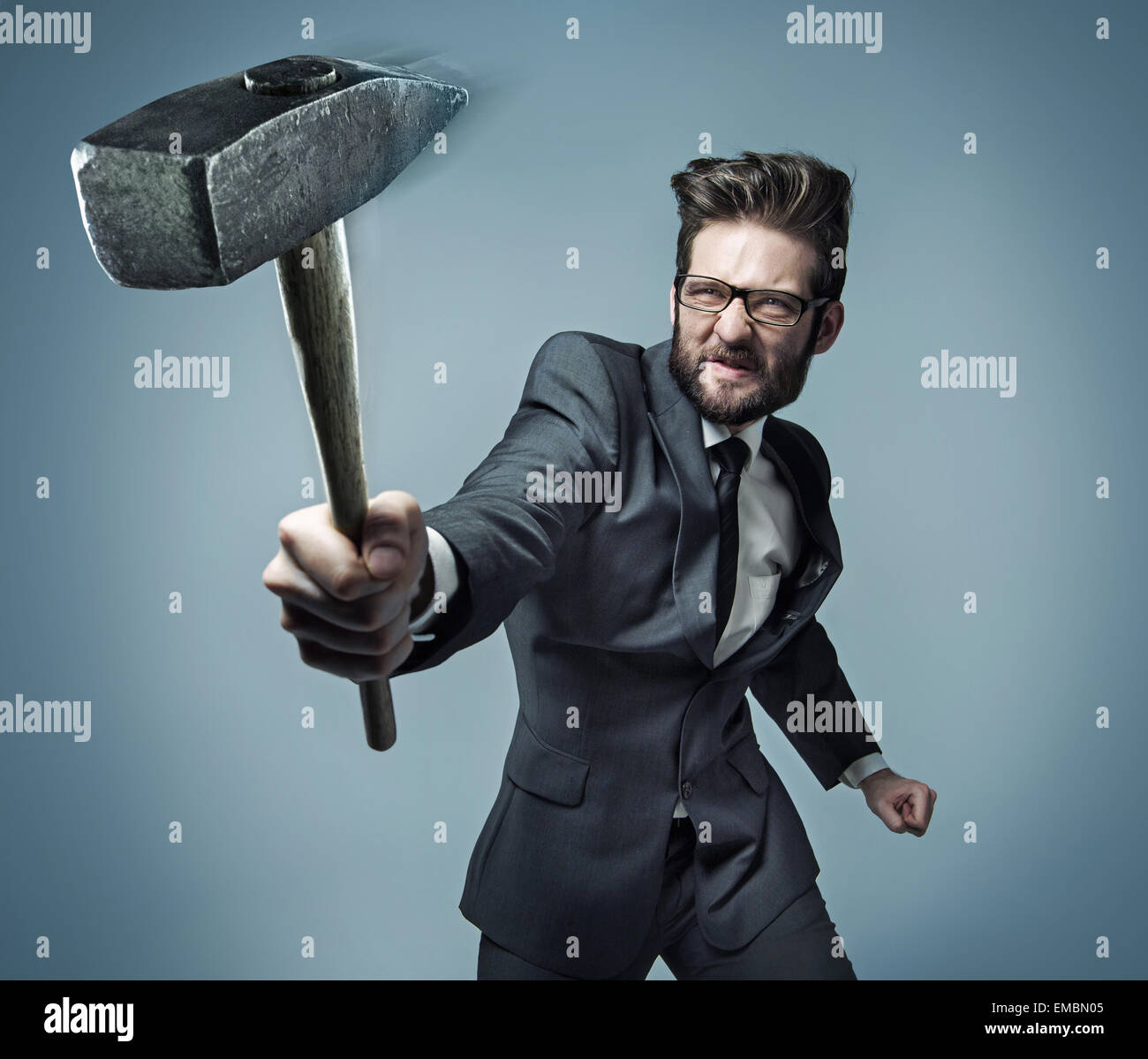 Conceptual picture of a powerful businessman - Stock Image
