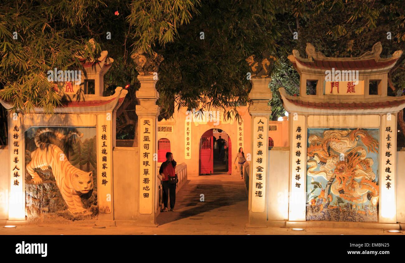 Vietnam, Hanoi, Ngoc Son, Jade Mountain Temple, - Stock Image