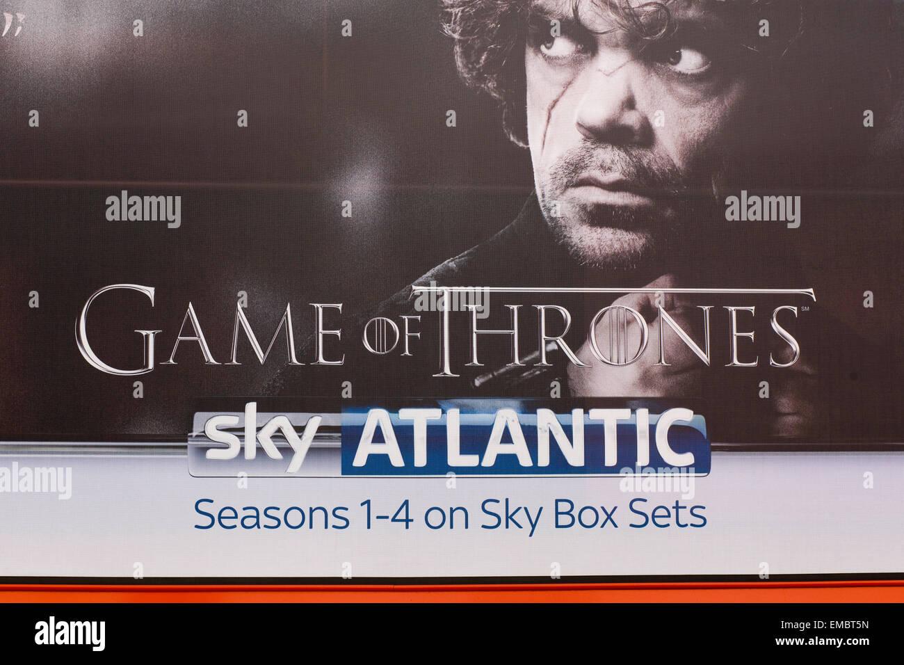 Poster Advertising Game Of Thrones Season 1 4 Box Sets At