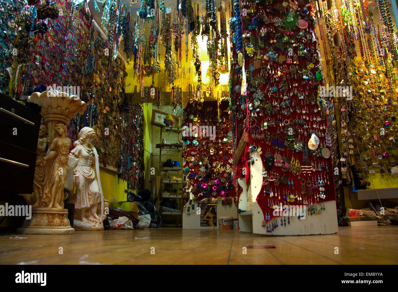 Shop full of costume jewelry of Istanbul Turkey. A very colorful assortment of jewelry & Shop full of costume jewelry of Istanbul Turkey. A very colorful ...