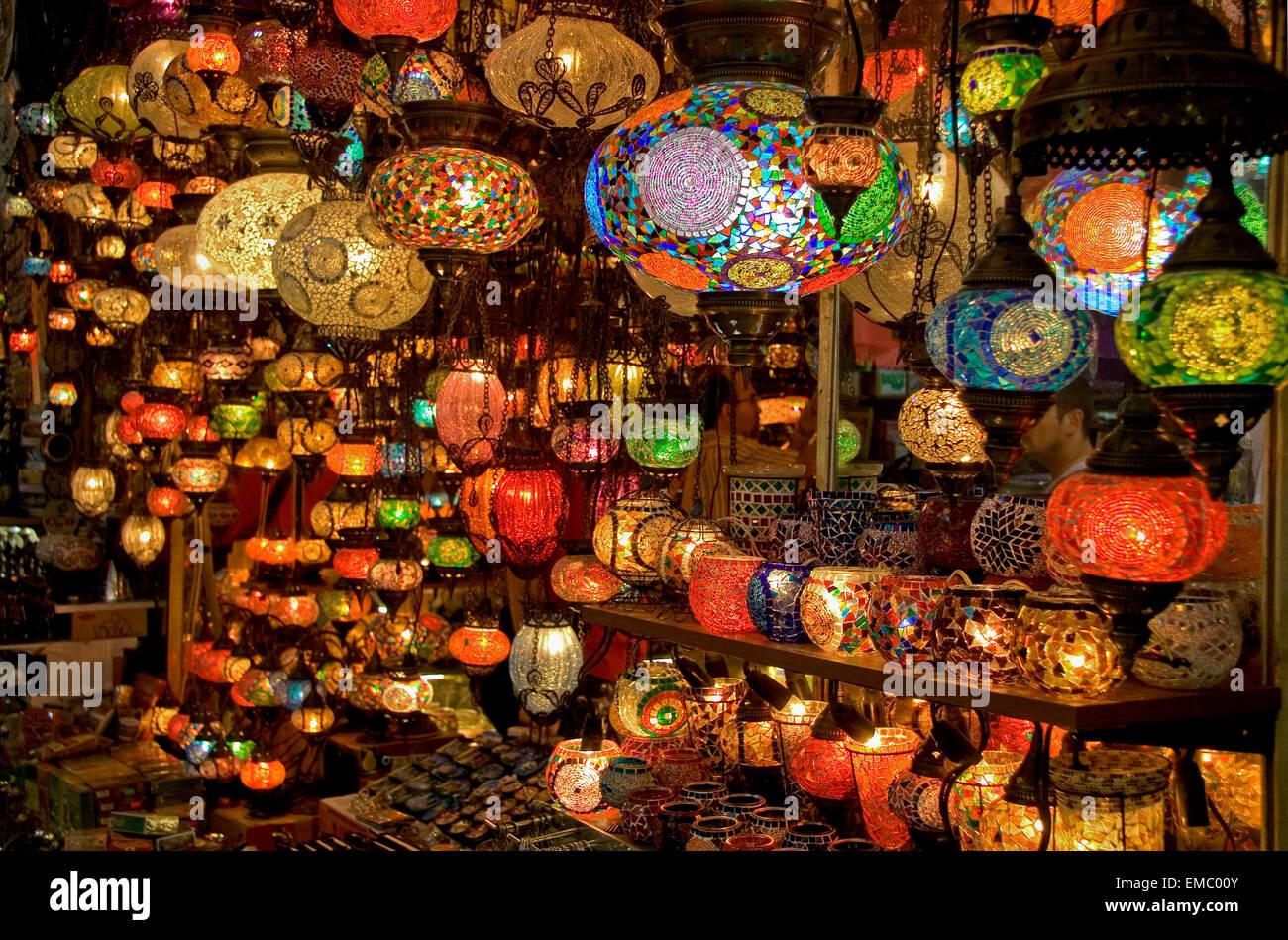 Chandelier store in the grand bazaar istanbul turkey stock photo chandelier store in the grand bazaar istanbul turkey aloadofball Images