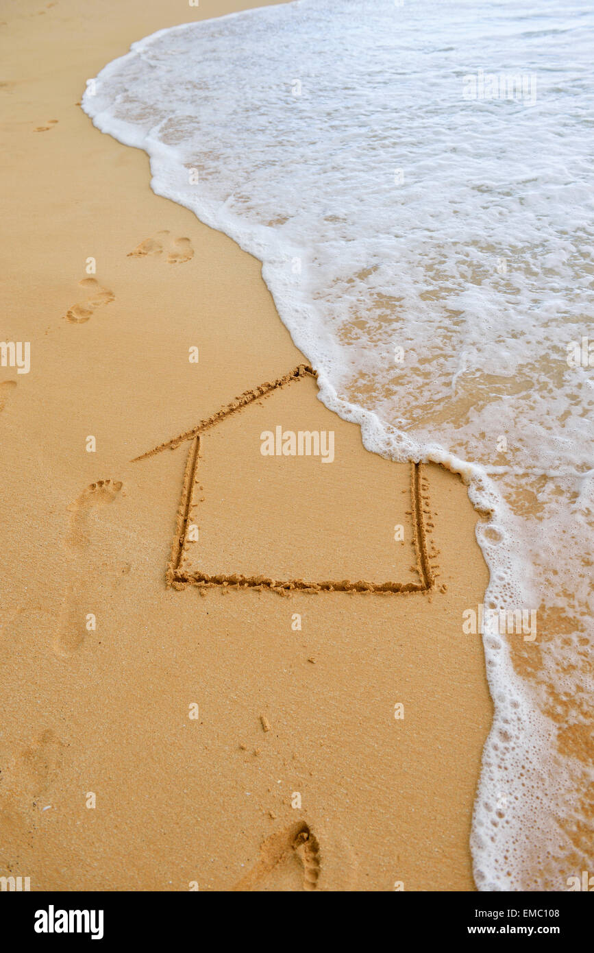 Usa Hawaii Maui Makena Beach State Park Wave On House