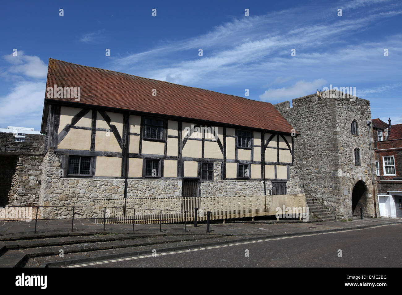 Westgate Hall Southampton formerly known as Tudor Merchants Hall in Southampton old town - Stock Image