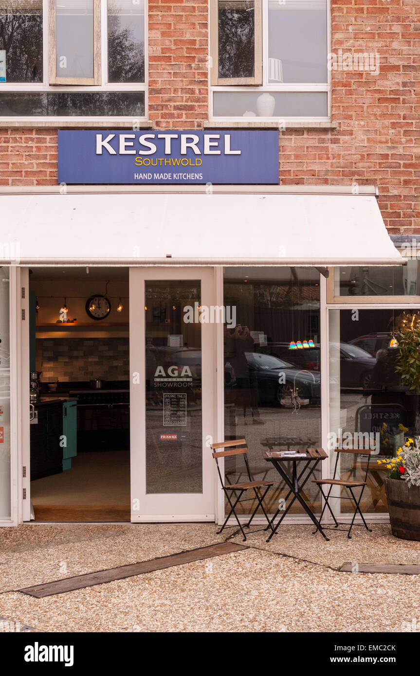 The Kestrel Hand Made Kitchens Shop Store Showroom In Southwold , Suffolk ,  England , Britain