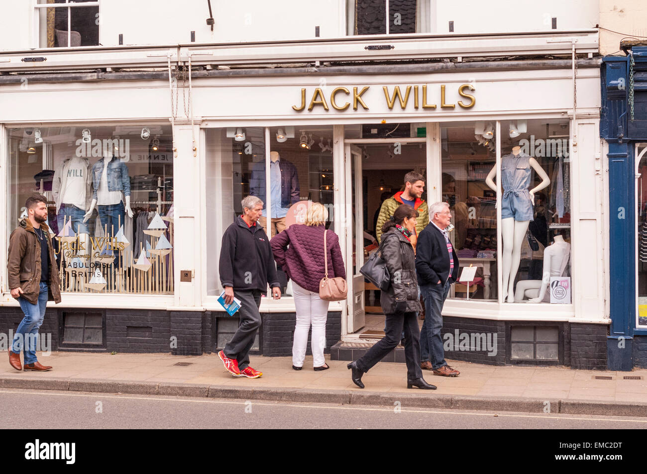 The Jack Wills clothing  shop store in Southwold , Suffolk , England , Britain , Uk - Stock Image