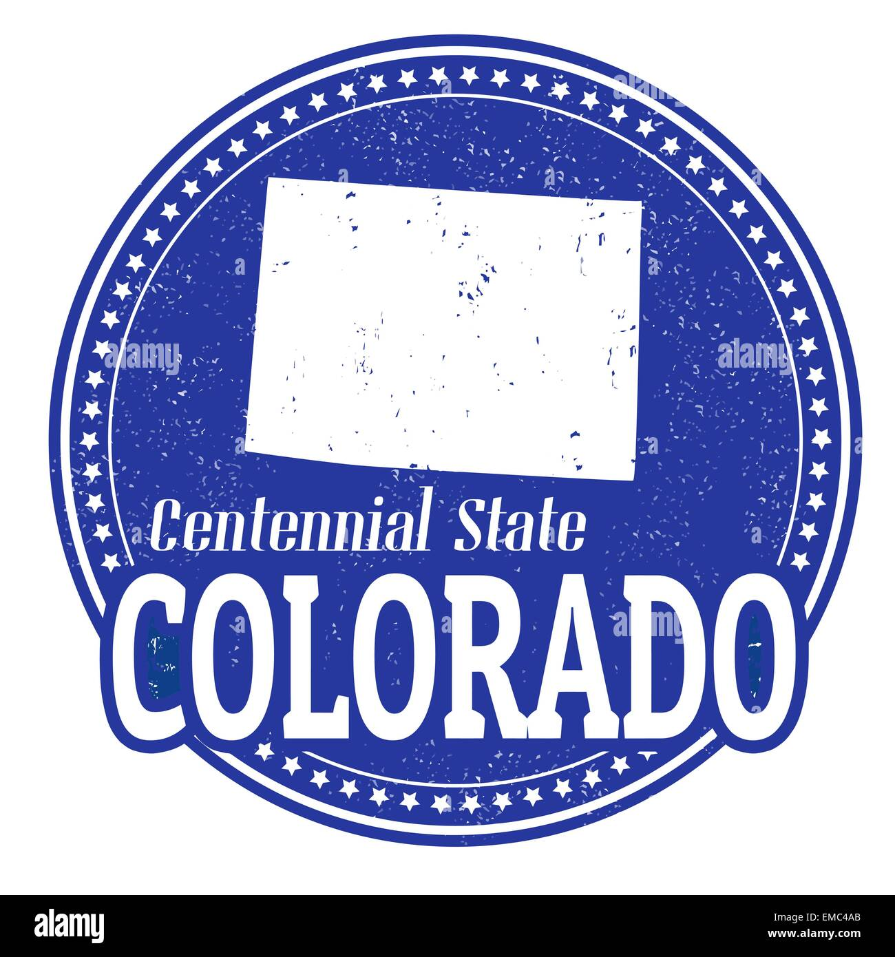 State Stamp Colorado Cut Out Stock Images Pictures