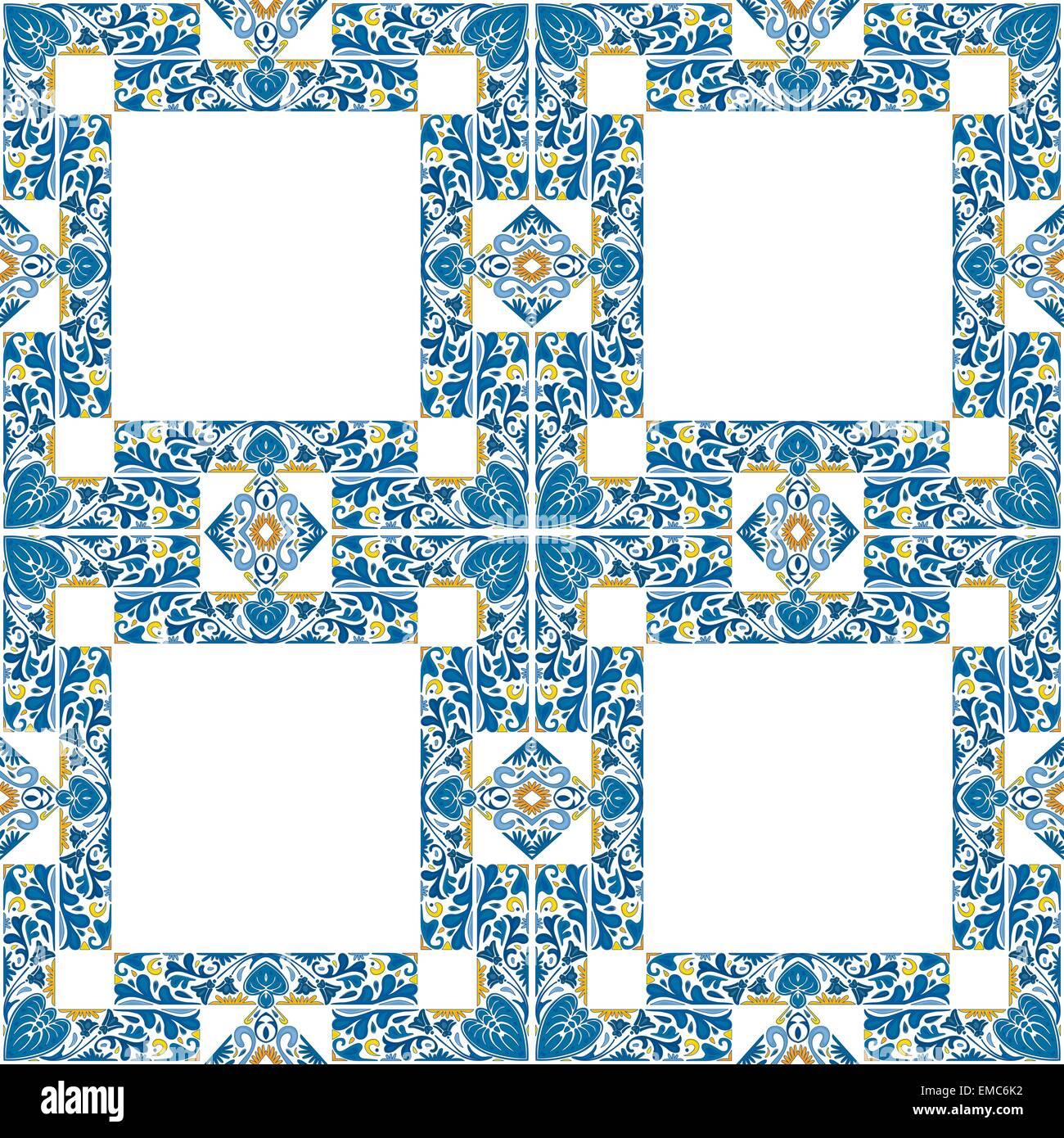 Portuguese tiles - Stock Vector