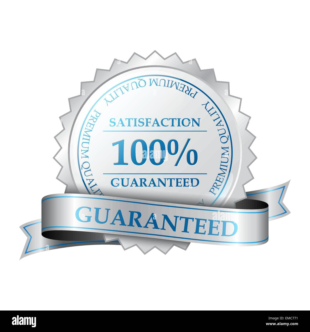 Premium 100% satisfaction guarantee label - Stock Image