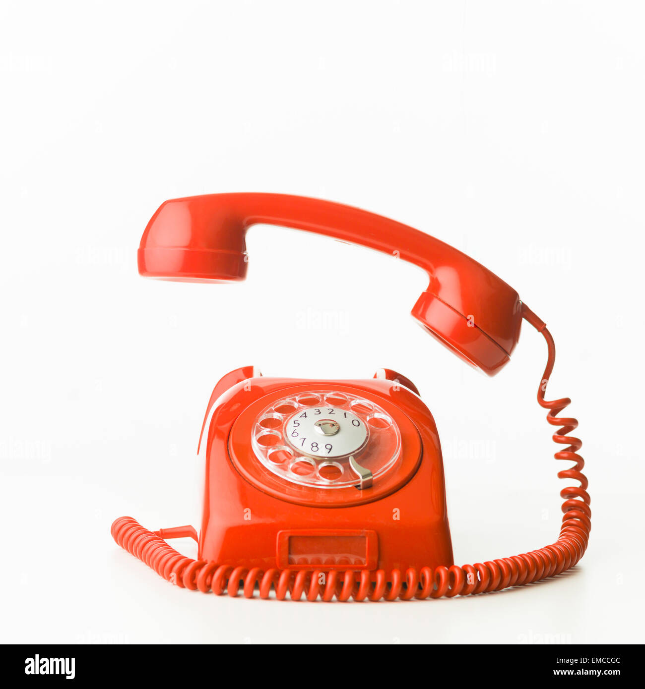 Closeup Of Red Vintage Phone Ringing, Isolated On White Background Nice Ideas