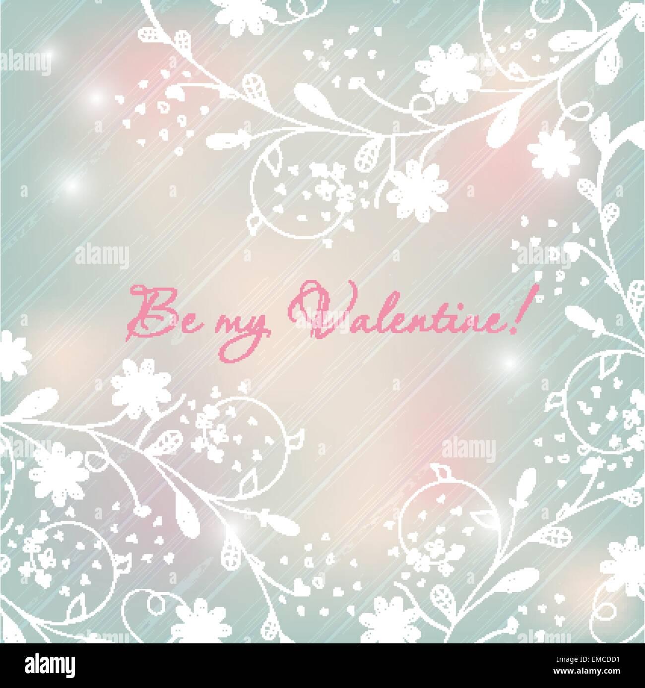 Light Pastel Floral Background Valentines Design Stock Vector Art