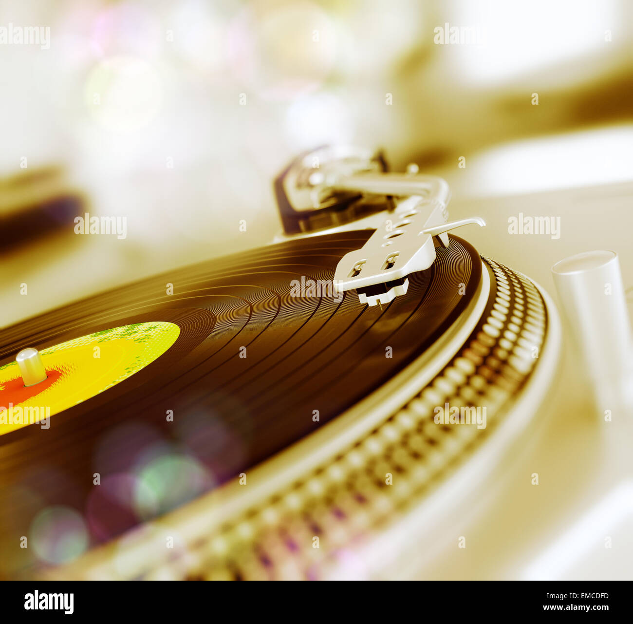 Record player - Stock Image
