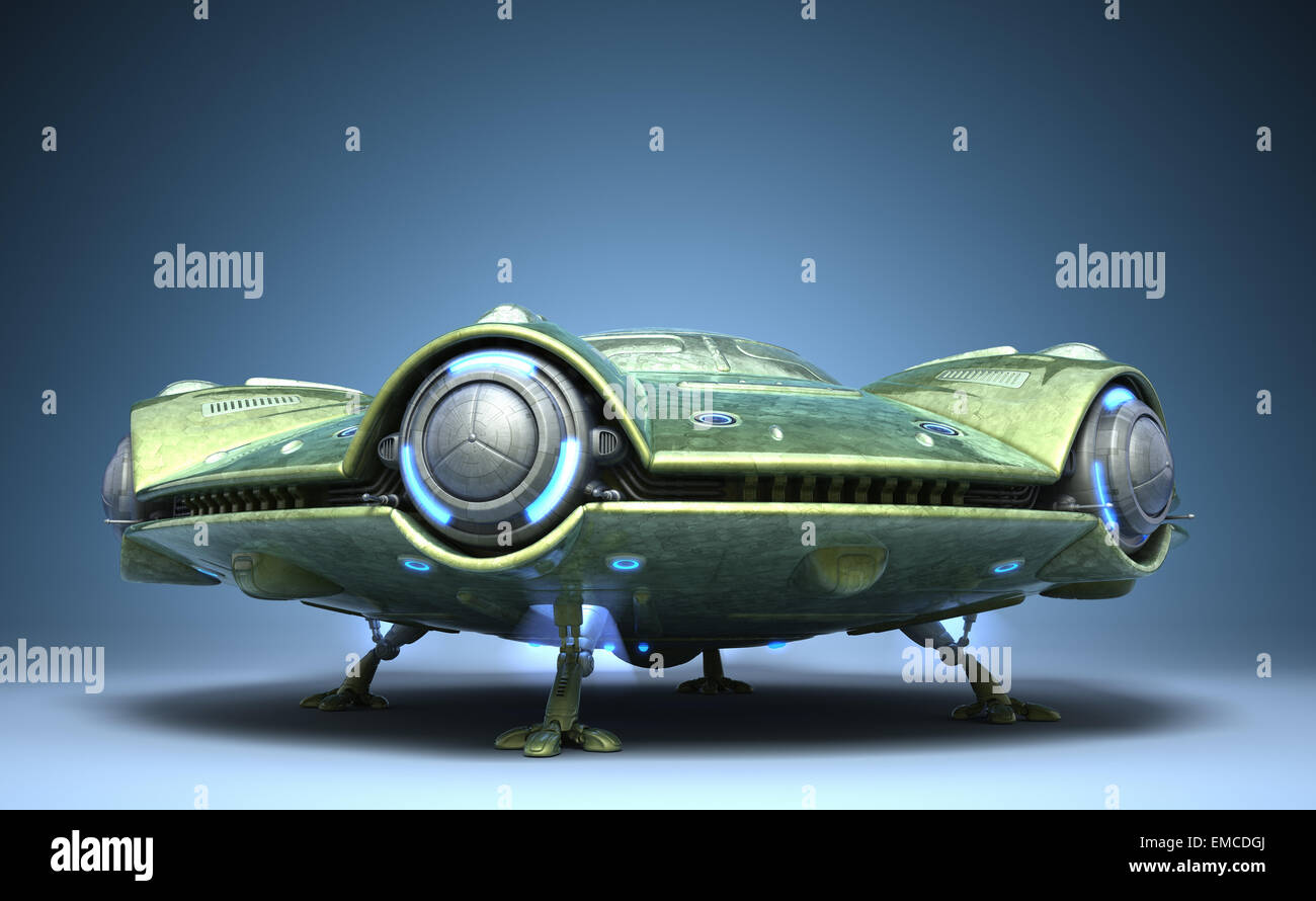Flying saucer - Stock Image