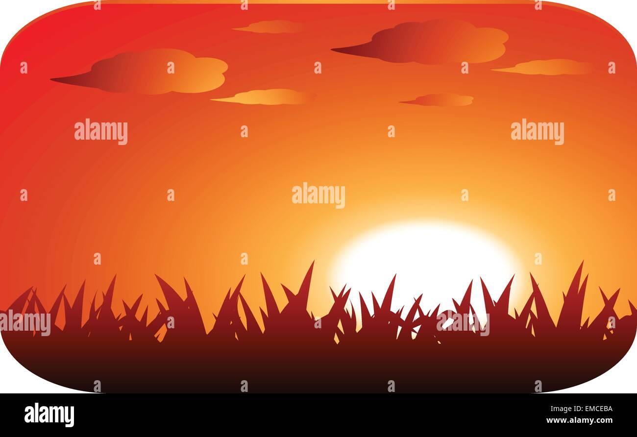 beautiful sunset - Stock Vector