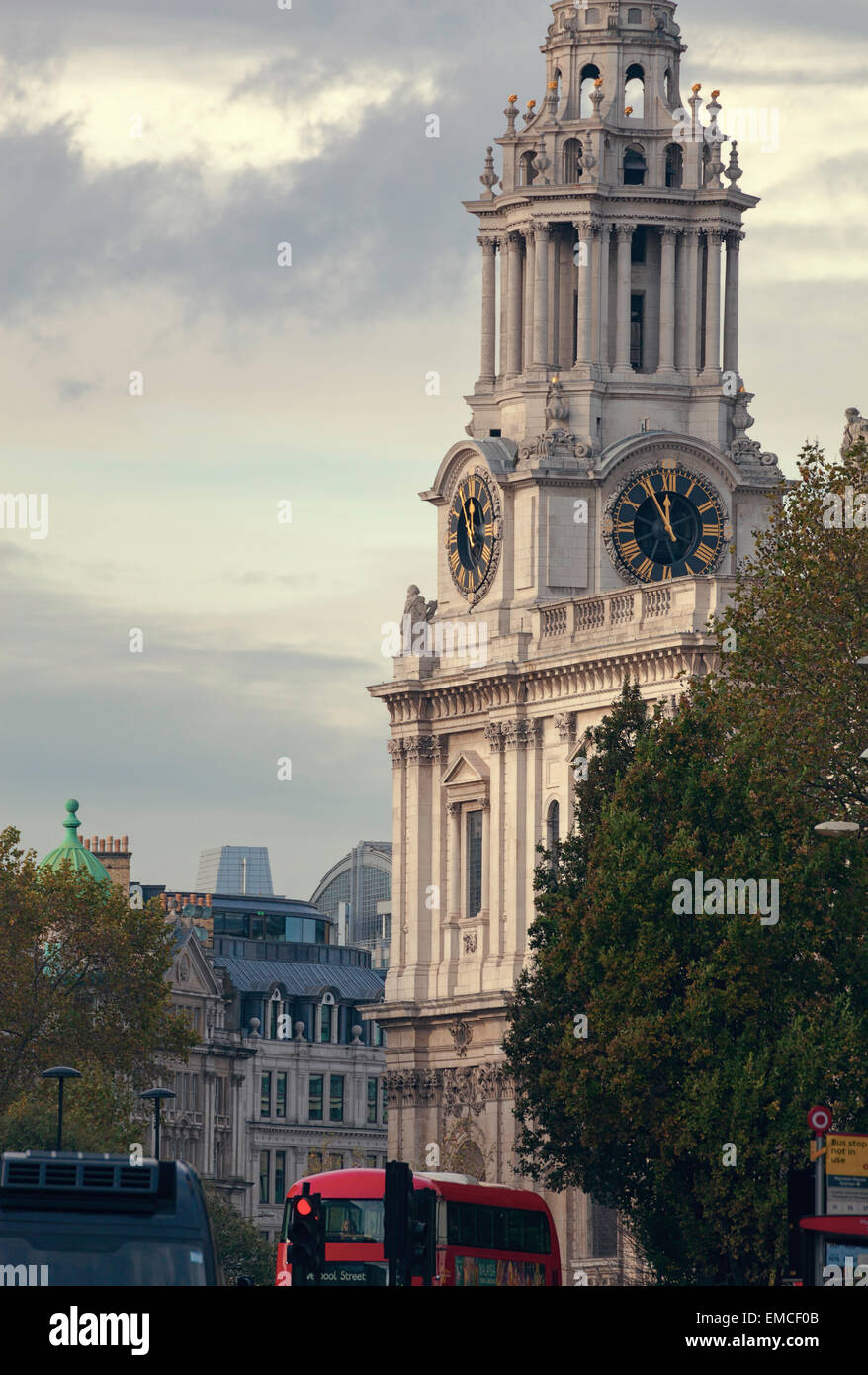A busy City of London street, UK. - Stock Image