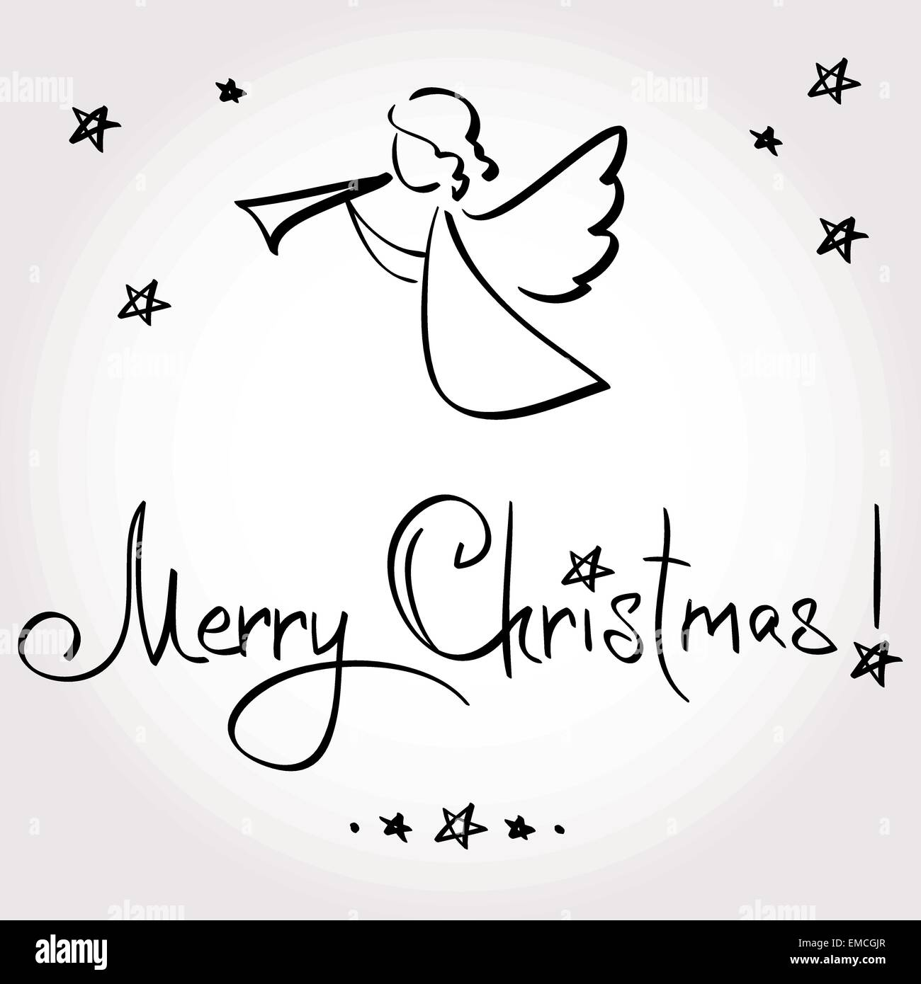 Christmas Card with Angel Stock Vector Image & Art   Alamy