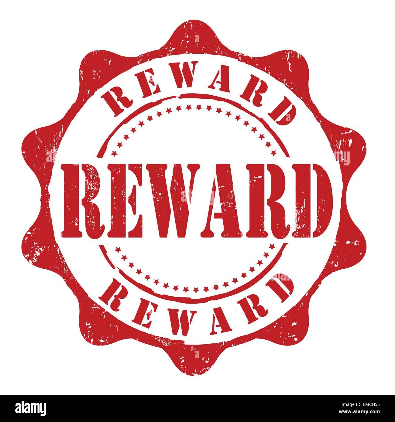 Reward stamp - Stock Image