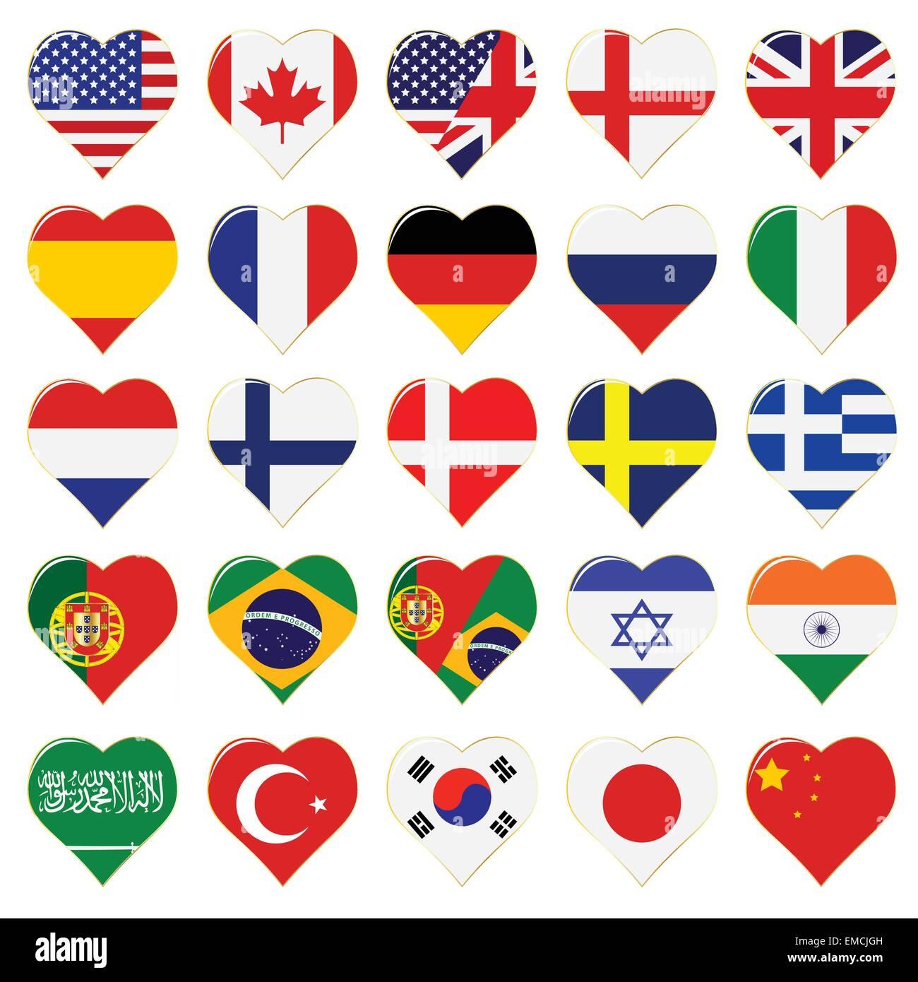 Web Language Icon Set - Stock Image