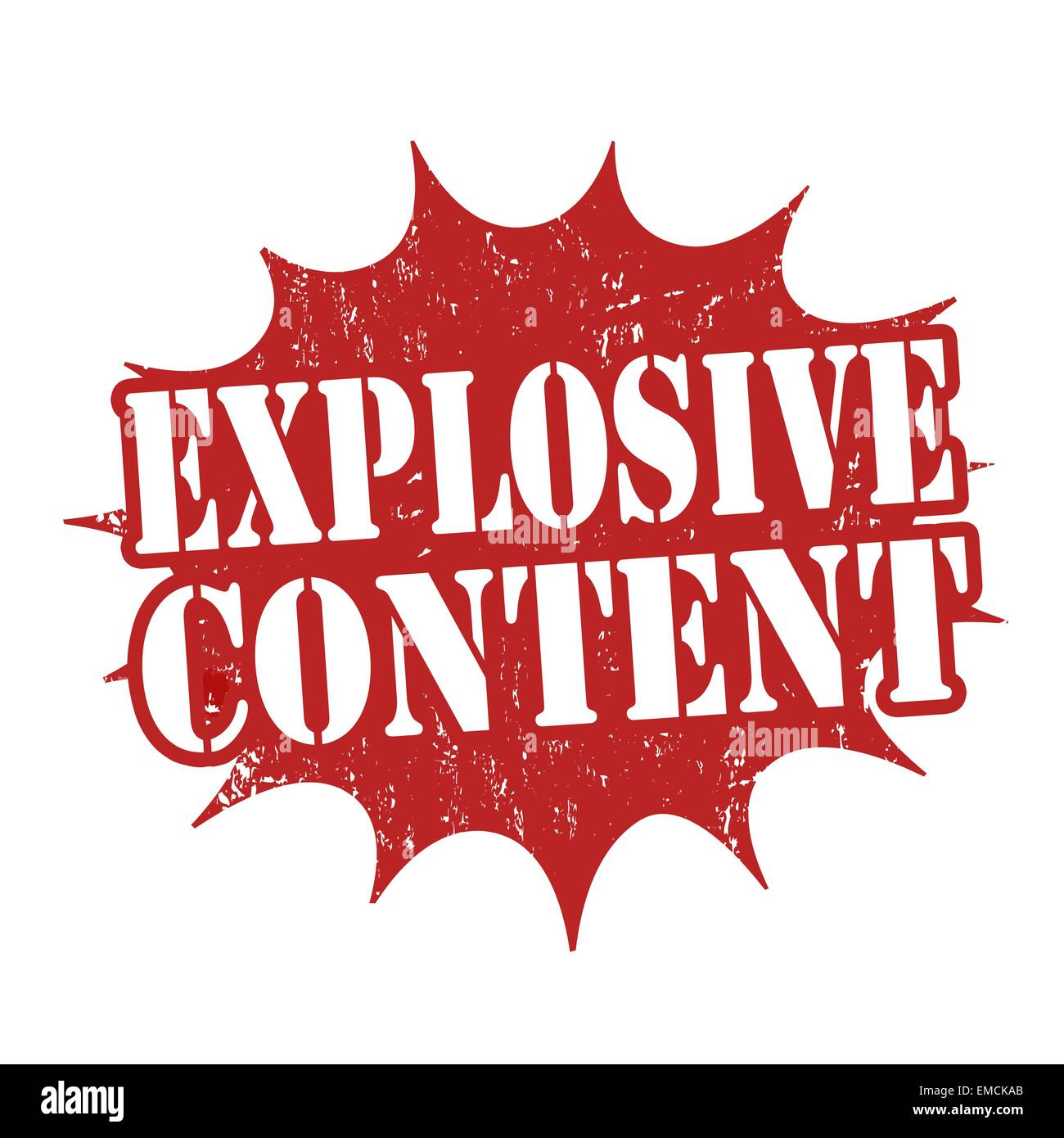 Explosive content stamp - Stock Image