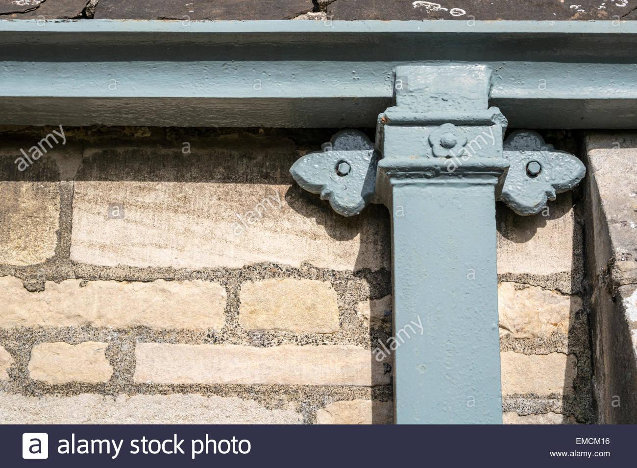 Cast Iron decorative drainpipe - Stock Image