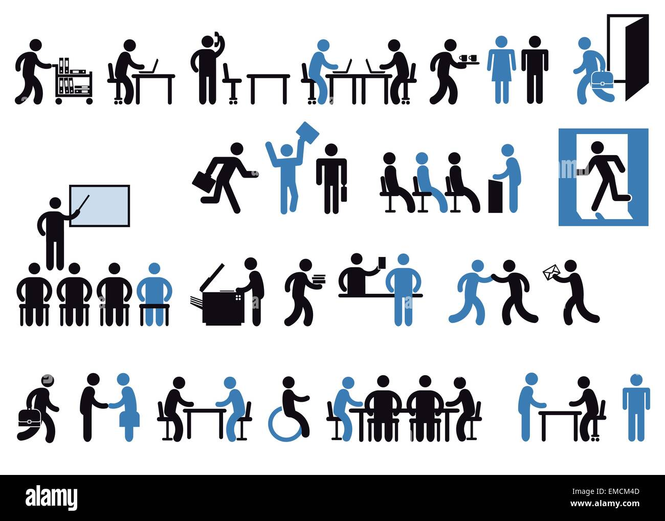 office pictogram - Stock Image
