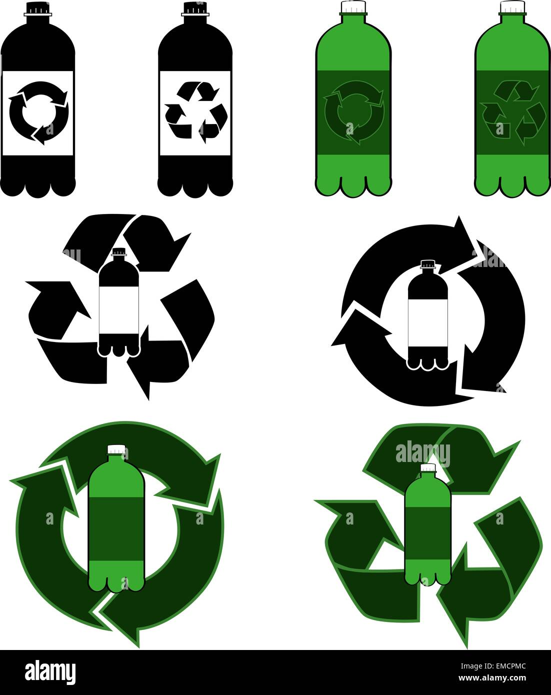 Bottle recycling - Stock Vector
