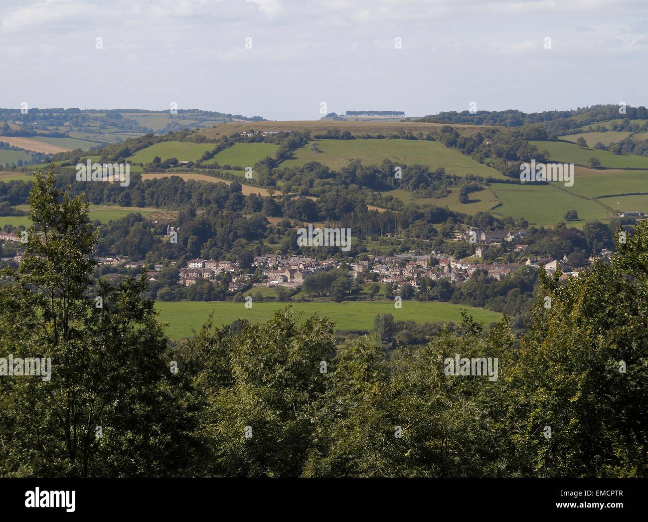 Little Solsbury Hill Batheaston from Bathampton Bath and Northeast Somerset England UK Stock Photo
